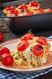 从一个年轻夏南瓜的被烘烤的布丁 图库摄影