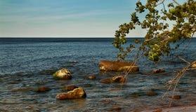 一个晴天在波罗的海 库存图片
