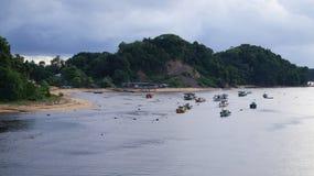 一个晴天在瓜拉Dungun 免版税库存图片