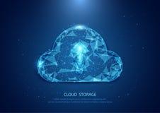 一个满天星斗的天空技术互联网的抽象云彩形式,数据 库存图片