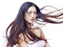 一个年轻女性亚洲模型的画象 图库摄影