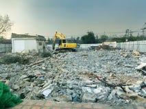 一个离开的地方由挖掘机取消 免版税库存图片