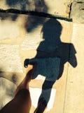 一个阴影在天 库存图片