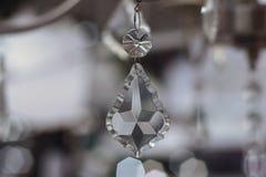 一个水晶灯罩的细节 免版税图库摄影