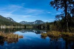 从一个巴法力亚湖的看法阿尔卑斯山的贝希特斯加登的 库存图片