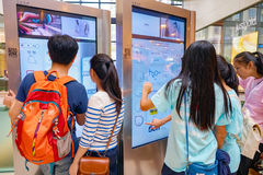 一个购物中心在香港 免版税库存图片