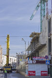 一个购物中心的建筑在哈尔科夫 库存照片