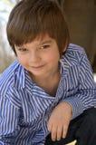 一个年轻男孩的传统画象 免版税库存图片