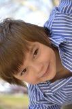 一个年轻男孩的画象 库存照片