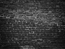 一个黑砖墙的纹理,设计的黑暗的背景 免版税库存照片