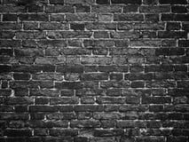 一个黑砖墙的纹理,设计的黑暗的背景 免版税库存图片
