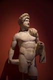 一个年轻罗马战士的雕象,安塔利亚,土耳其 免版税库存照片