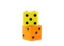一个黄色和一个桔子模子 免版税库存图片