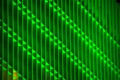 一个绿色大厦的水平的图象 免版税库存照片