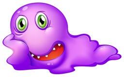 一个紫色妖怪 免版税库存图片