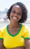 一个巴西体育迷的画象在里约热内卢 图库摄影