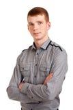 一个年轻人的纵向 免版税库存图片