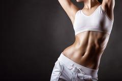 妇女的体育形状 库存图片