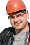一个建造者人的画象 免版税库存照片