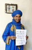 一个巴巴里人人在Rissani在摩洛哥 免版税库存图片
