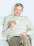 一个年长人的生活。 免版税库存照片