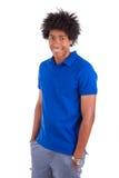 一个年轻非裔美国人的人的画象-黑人 库存图片