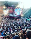 一个Coldplay音乐会在柏林和克里斯・马汀 免版税库存图片