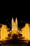 一个cristian教会的晚上视图在吉马朗伊什市 免版税库存照片