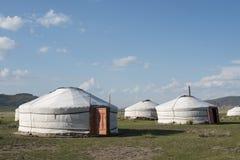 一个Ger阵营在蒙古语的Gurvanbulag 免版税库存图片