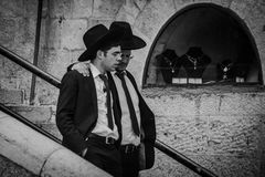 一个Hasidic犹太人 库存照片