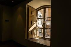 一个histoical房子的窗口 图库摄影
