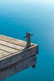 一个pieceful木码头 库存图片