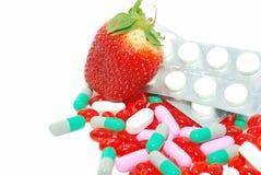 一个pils草莓 免版税图库摄影