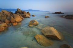 海滩在Corse,法国 库存图片