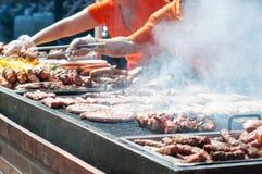 一串大烤肉 免版税库存照片