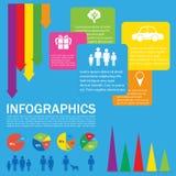 一五颜六色的infochart 库存图片
