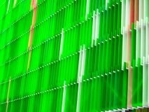 一些丙烯酸酯的塑料板料内部七的水平白色和颜色 免版税库存照片