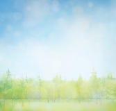 一些反弹严格晴朗那里不是的蓝色云彩日由于域重点充分的绿色横向小的移动工厂显示天空是麦子白色风 免版税图库摄影