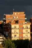 一些大厦郊外罗马(意大利) 非法区域大厦 免版税库存图片