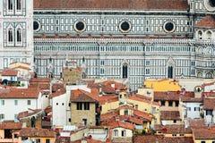 一些大厦细节在佛罗伦萨的中心 库存图片