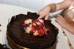 一些将的蛋糕有i 免版税图库摄影