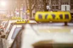 一些德国人出租汽车标志 免版税图库摄影