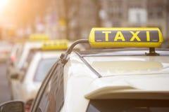 一些德国人出租汽车标志 免版税库存照片