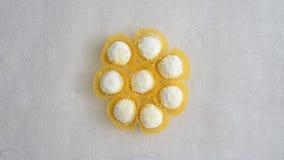 一些白蛋糕(印度尼西亚puteri salju) 库存照片