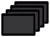 一些种黑色片剂 免版税库存照片