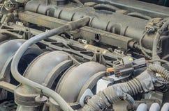 一些老引擎汽车 库存照片