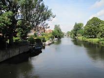 一些许多运河在阿姆斯特丹,荷兰 免版税库存照片