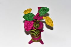 一件五颜六色的装饰品被塑造象猴面包树 库存图片