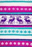 一件冬天毛线衣的装饰品有鹿的 免版税图库摄影