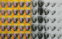 一件艺术品著名塔特的安迪・沃荷现代在伦敦 库存照片